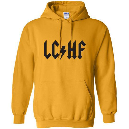 Keto Hoodie LCHF ACDC Dark on Light