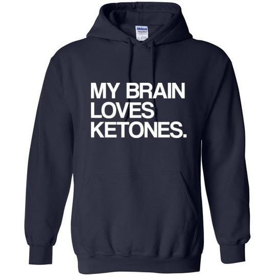 Keto Hoodie My Brain Loves Ketones, Gildan Heavy Blend Hoodie - Kari Yearous Photography KetoLaughs