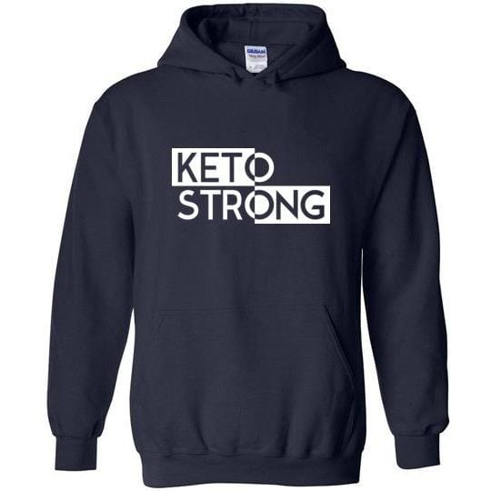 Keto Hoodie Sweatshirt Keto Strong - Kari Yearous Photography KetoLaughs