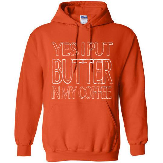 Keto Hoodie Yes I Put Butter In My Coffee Gildan Heavy Blend Hoodie - Kari Yearous Photography WinonaGifts KetoGifts LoveDecorah