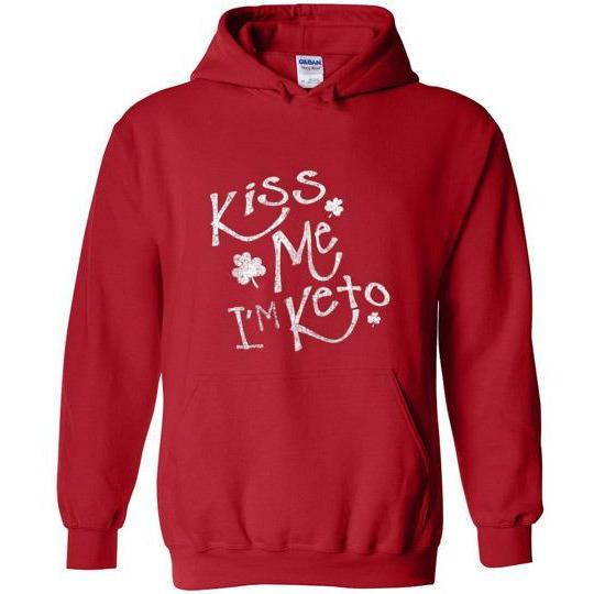 Keto St Patrick's Day Sweatshirt Kiss Me I'm Keto - Kari Yearous Photography WinonaGifts KetoGifts LoveDecorah