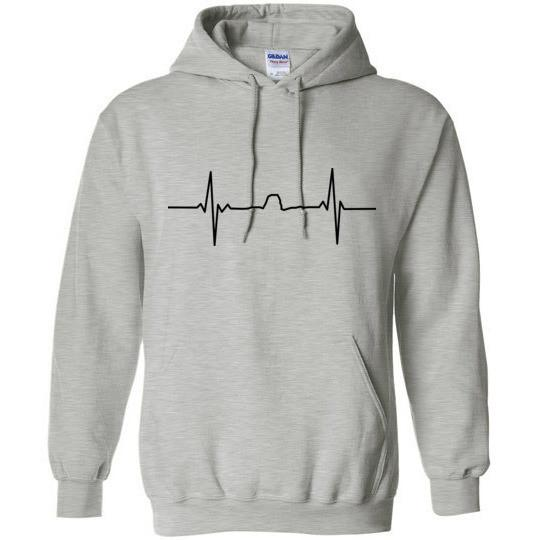 Winona MN Hoodie Sugarloaf Heartbeat Gildan Heavy Blend - Kari Yearous Photography KetoLaughs