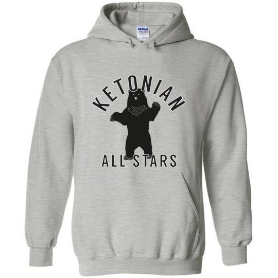 Keto Hoodie, Ketonian All Stars Standing Bear, Gildan Heavy Blend - Kari Yearous Photography WinonaGifts KetoGifts LoveDecorah