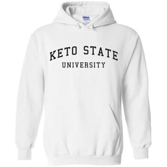 Keto Hoodie Sweatshirt, Keto State University, Gildan Heavy Blend Hoodie - Kari Yearous Photography WinonaGifts KetoGifts LoveDecorah