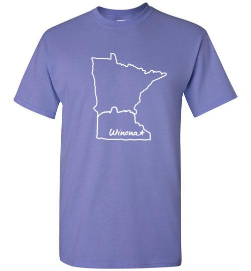Winona Minn Kids T-Shirt, Sugarloaf in MN Outline, Gildan Tee - Kari Yearous Photography WinonaGifts KetoGifts LoveDecorah