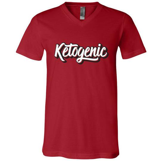 Ketogenic T-Shirt 3D Text, Unisex V-Neck T-Shirt - Kari Yearous Photography WinonaGifts KetoGifts LoveDecorah