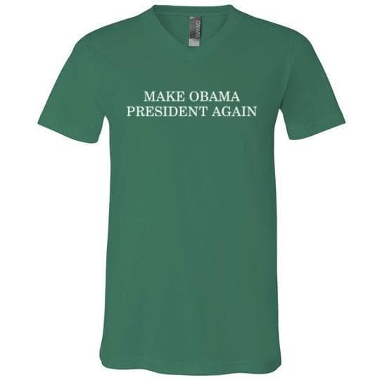 T-Shirt Make Obama President Again, Unisex V-Neck - Kari Yearous Photography KetoLaughs