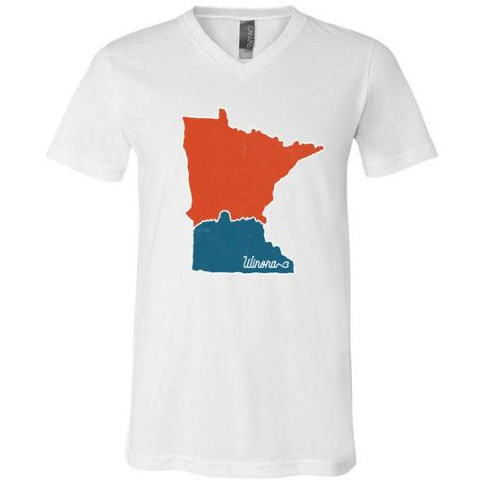 Winona MN T-Shirt Map With Sugarloaf
