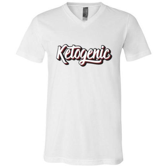 Ketogenic T-Shirt 3D Text, Unisex V-Neck T-Shirt