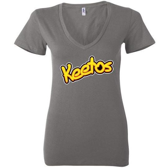Funny Keto T-Shirt Keetos, Bella Ladies Deep V-Neck - Kari Yearous Photography WinonaGifts KetoGifts LoveDecorah