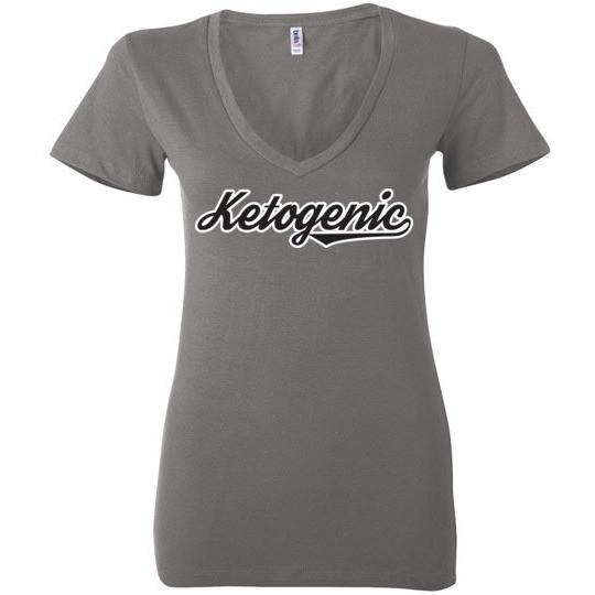 Keto T-Shirt Ketogenic Team Look, Ladies Deep V-Neck