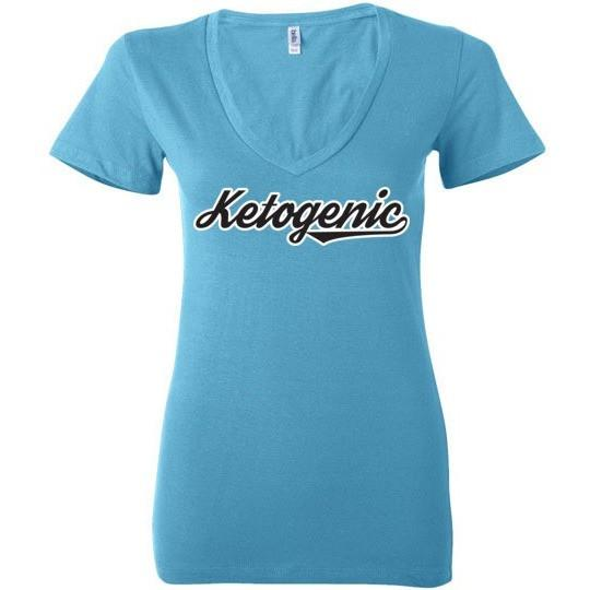 Keto T-Shirt Ketogenic Team Look, Ladies Deep V-Neck - Kari Yearous Photography KetoLaughs