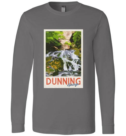 Decorah Iowa Long-Sleeve Shirt Vintage Dunning Springs, Canvas Long Sleeve - Kari Yearous Photography WinonaGifts KetoGifts LoveDecorah
