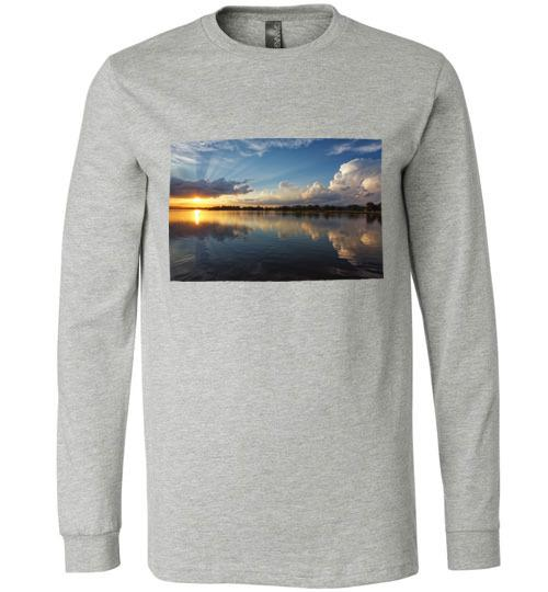 Winona Minnesota Sunset T-Shirt, Long Sleeve - Kari Yearous Photography WinonaGifts KetoGifts LoveDecorah