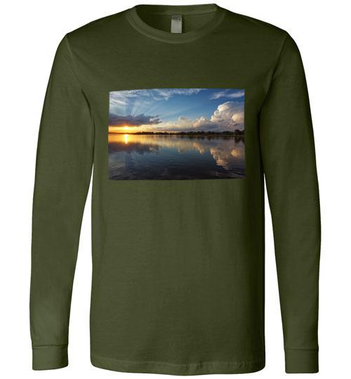 Winona Minnesota Sunset T-Shirt, Long Sleeve