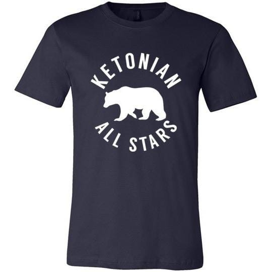 Keto T-Shirt Ketonian All Stars, Light on Dark - Kari Yearous Photography KetoLaughs