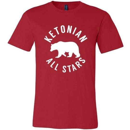 Keto T-Shirt Ketonian All Stars, Light on Dark