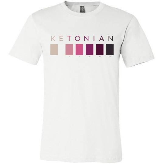 Keto T-Shirt, Ketonian Test Strip Colors, Canvas Unisex T-Shirt - Kari Yearous Photography WinonaGifts KetoGifts LoveDecorah