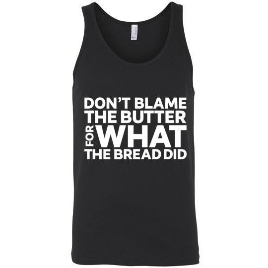 Keto Tank Top Don't Blame the Butter, Canvas Unisex Tank - Kari Yearous Photography WinonaGifts KetoGifts LoveDecorah