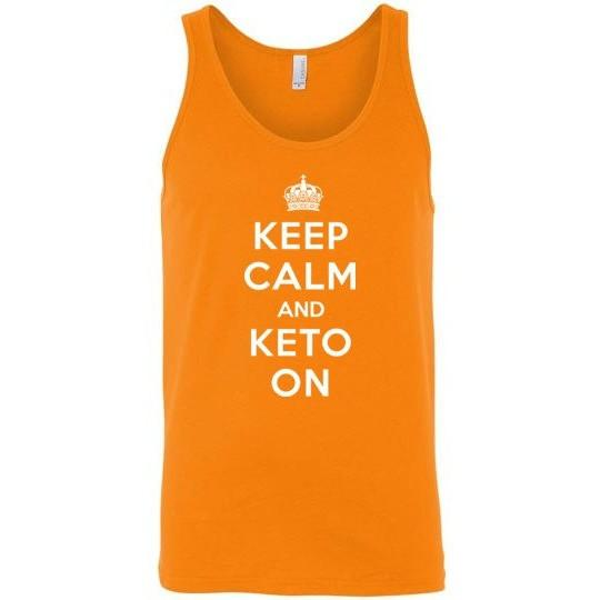 Keto Tank Top, Keep Calm and Keto On, Canvas Unisex Tank
