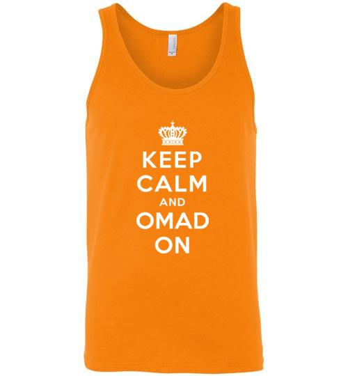 Keep Calm and OMAD On Fasting Tank Top, Unisex Tank - Kari Yearous Photography WinonaGifts KetoGifts LoveDecorah
