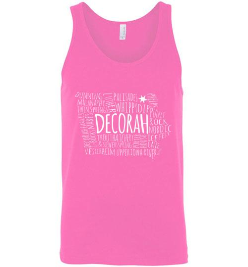 Decorah Iowa Tank Top, Unisex Style - Kari Yearous Photography WinonaGifts KetoGifts LoveDecorah