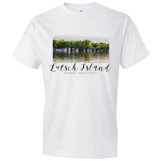 Latsch Island Boathouses Winona T-Shirt - Kari Yearous Photography WinonaGifts KetoGifts LoveDecorah