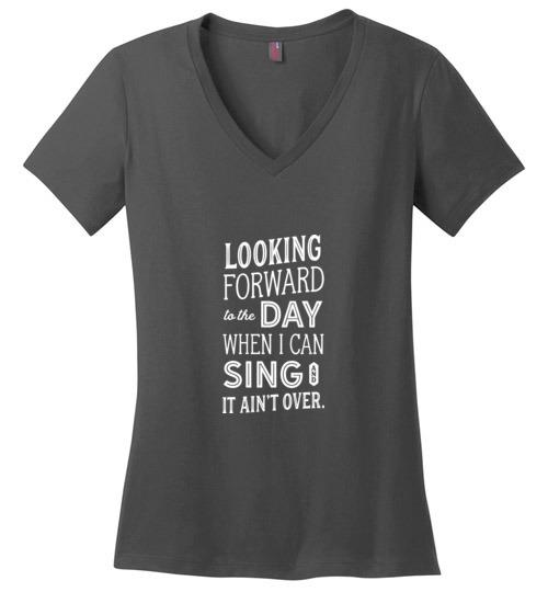 Inspirational Weight Loss T-Shirt, Ladies Perfect Weight V-Neck - Kari Yearous Photography WinonaGifts KetoGifts LoveDecorah