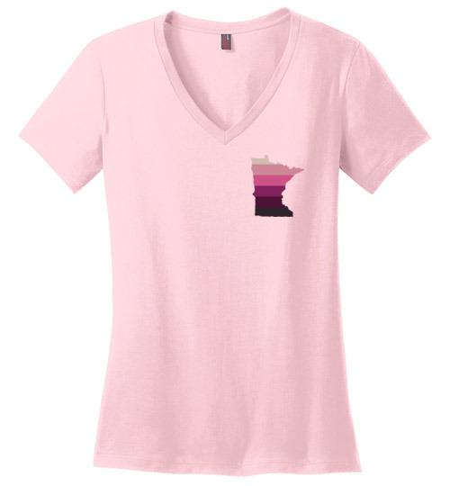 Minnesota Keto T-Shirt Ladies V-Neck, Upper Left - Kari Yearous Photography WinonaGifts KetoGifts LoveDecorah