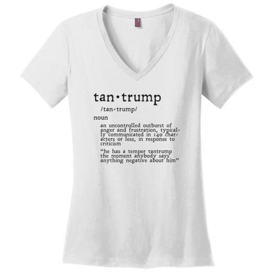 Tantrump Funny T-Shirt, Ladies Perfect Made V-Neck - Kari Yearous Photography WinonaGifts KetoGifts LoveDecorah