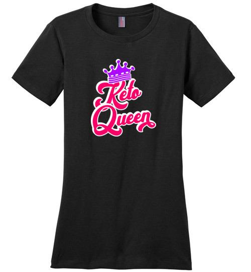 Keto Queen T-Shirt, Ladies Perfect Weight Tee - Kari Yearous Photography WinonaGifts KetoGifts LoveDecorah