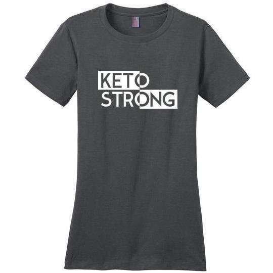Women's Keto T-Shirt Keto Strong Ladies Perfect Weight Tee - Kari Yearous Photography WinonaGifts KetoGifts LoveDecorah