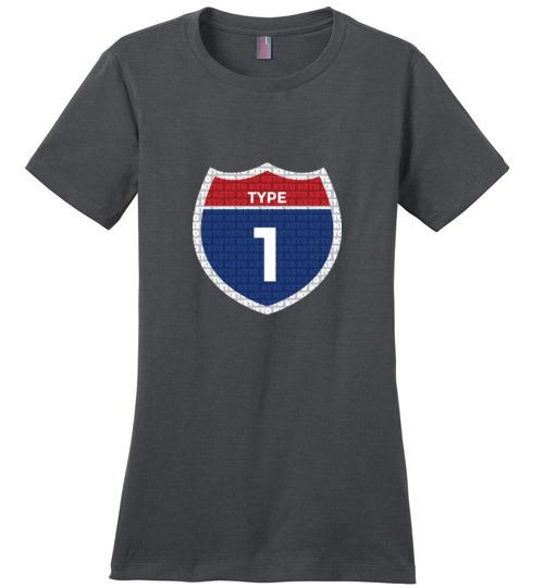Type One Keto T-Shirt, Interstate, Ladies Perfect Weight Tee