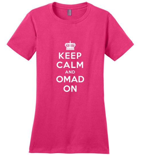 OMAD T-Shirt Keep Calm and OMAD On, Ladies Perfect Weight Tee, Fasting T-Shirt - Kari Yearous Photography WinonaGifts KetoGifts LoveDecorah