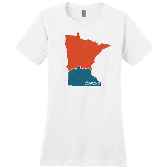 Winona Ladies T-Shirt Perfect Weight Map with Sugarloaf - Kari Yearous Photography KetoLaughs