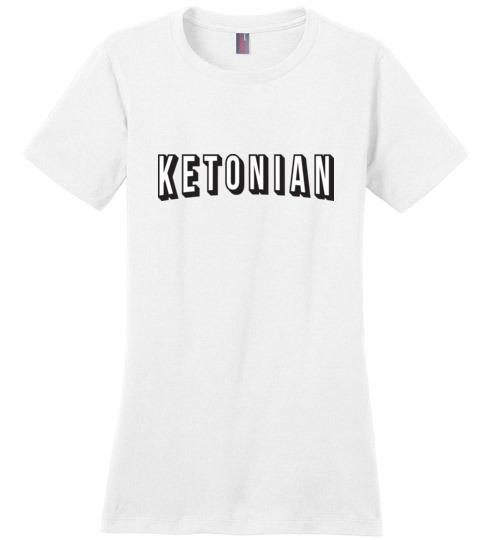 Keto Shirt Ketonian Netflix Style, Ladies Perfect Weight Tee - Kari Yearous Photography WinonaGifts KetoGifts LoveDecorah
