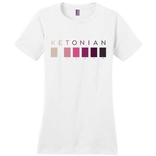 Women's Keto T-Shirt Ketonian, Perfect Weight Tee - Kari Yearous Photography WinonaGifts KetoGifts LoveDecorah