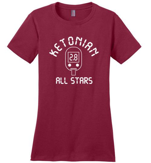 Keto T-Shirt Ketonian Ketone Blood Meter, Ladies Perfect Weight Tee - Kari Yearous Photography WinonaGifts KetoGifts LoveDecorah