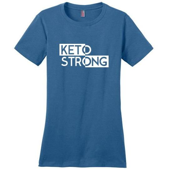Women's Keto T-Shirt Keto Strong Ladies Perfect Weight Tee