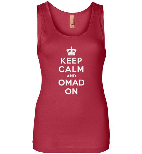 Ladies OMAD Fasting Tank Top, Keep Calm and OMAD On - Kari Yearous Photography WinonaGifts KetoGifts LoveDecorah