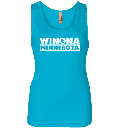 Winona Minn Tank Top, State in O Design, Ladies Tank - Kari Yearous Photography WinonaGifts KetoGifts LoveDecorah