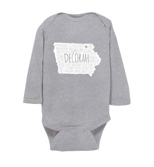 Decorah Iowa Baby Long-Sleeve Bodysuit - Kari Yearous Photography WinonaGifts KetoGifts LoveDecorah