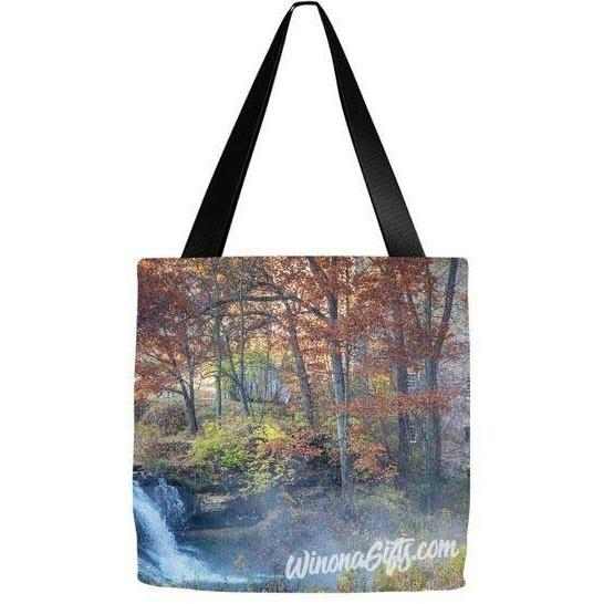 Tote Bag Pickwick Falls - Kari Yearous Photography WinonaGifts KetoGifts LoveDecorah