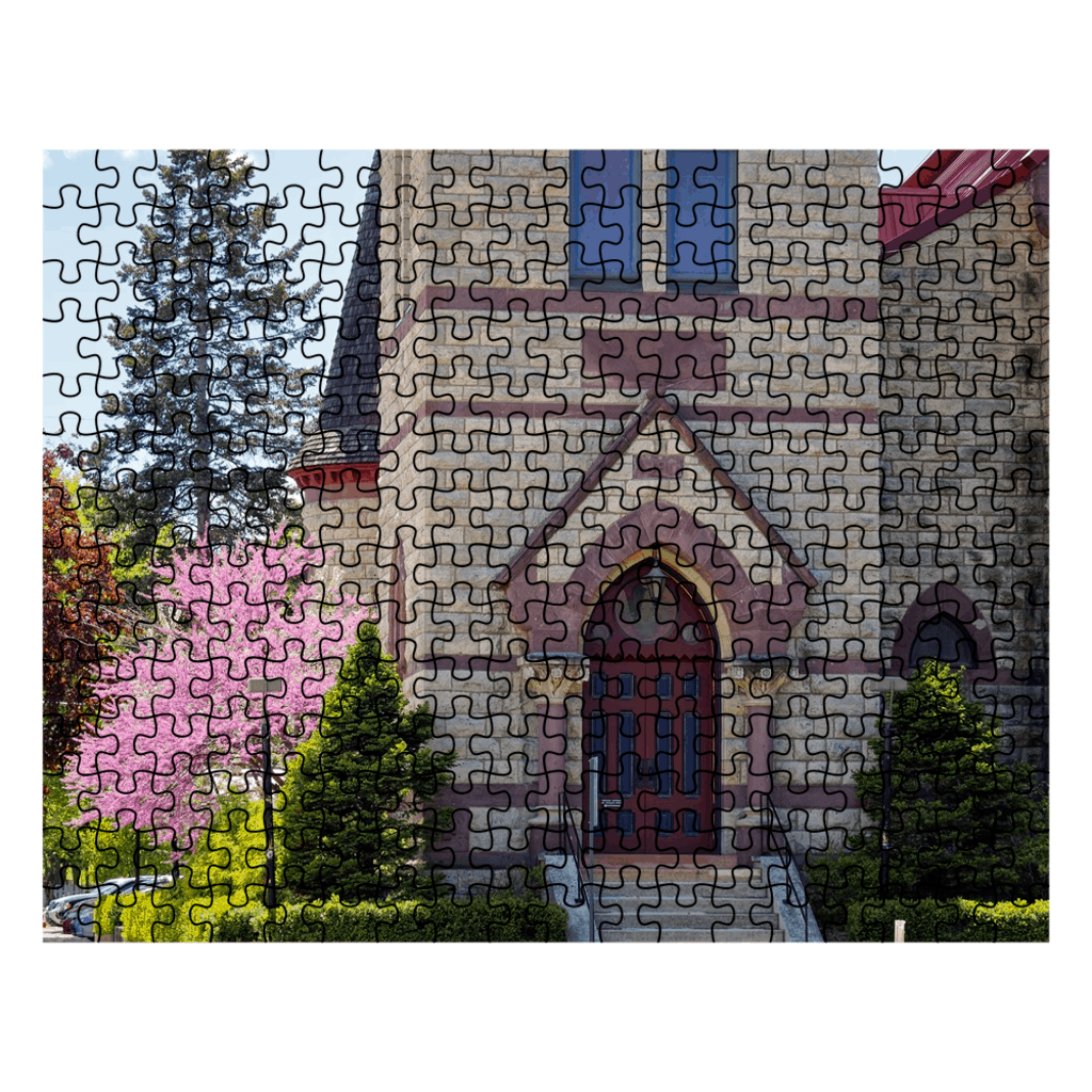 Winona Minnesota Puzzle First Congregational Church in Spring - Kari Yearous Photography WinonaGifts KetoGifts LoveDecorah