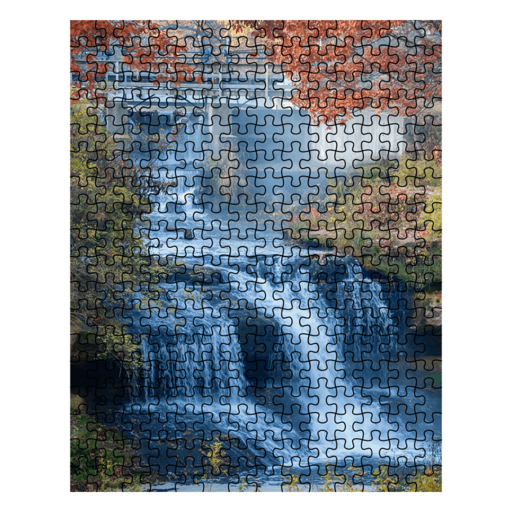 Jigsaw Puzzle Pickwick Mill Waterfall Pickwick Minnesota - Kari Yearous Photography WinonaGifts KetoGifts LoveDecorah