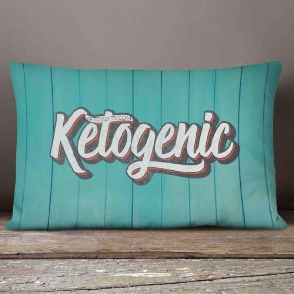 Keto Pillow Ketogenic Text On Wood