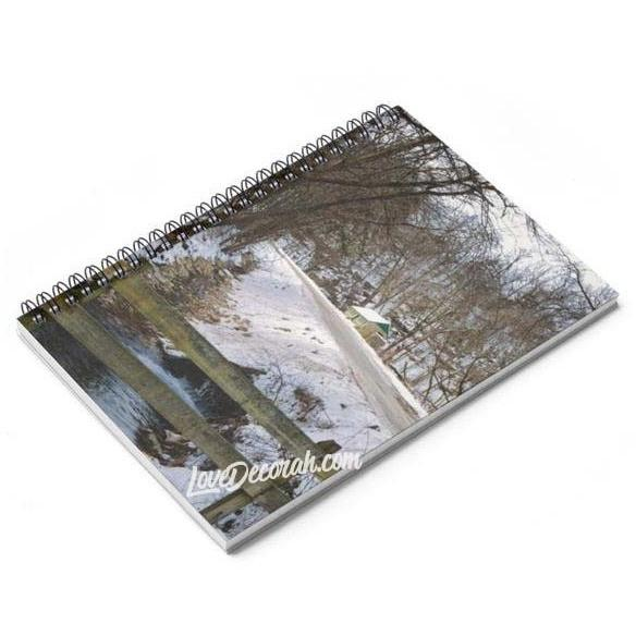 Spiral Notebook Twin Springs Decorah Iowa - Kari Yearous Photography WinonaGifts KetoGifts LoveDecorah