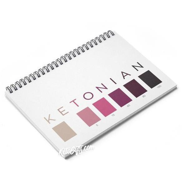 Keto Notebook Ketonian Test Strip Colors - Kari Yearous Photography WinonaGifts KetoGifts LoveDecorah