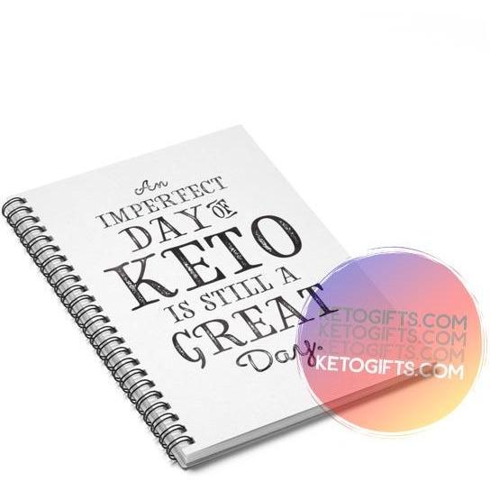 Keto Notebook Imperfect Day of Keto Still A Great Day - Kari Yearous Photography KetoLaughs
