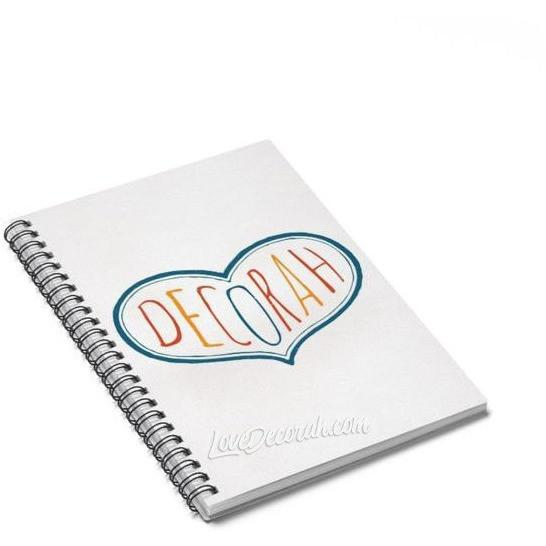 Spiral Notebook Decorah Multicolor Heart